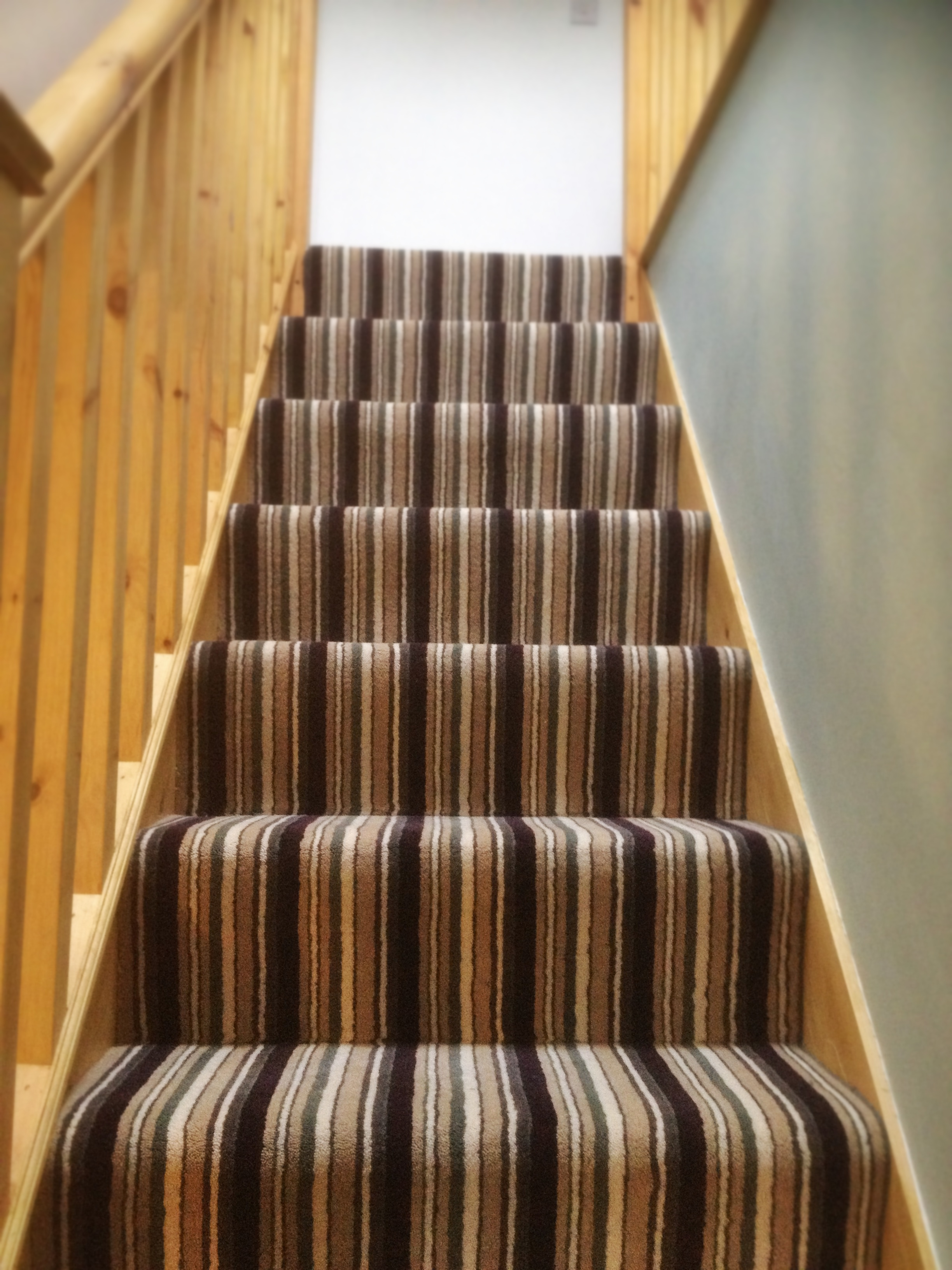 Striped Carpet Staircase And Landing Gloucester S P